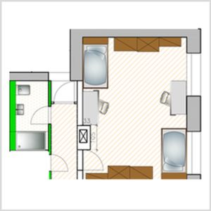 ground plan double apartment